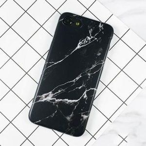 Accessories - Marble Soft Phone Case in Black and White